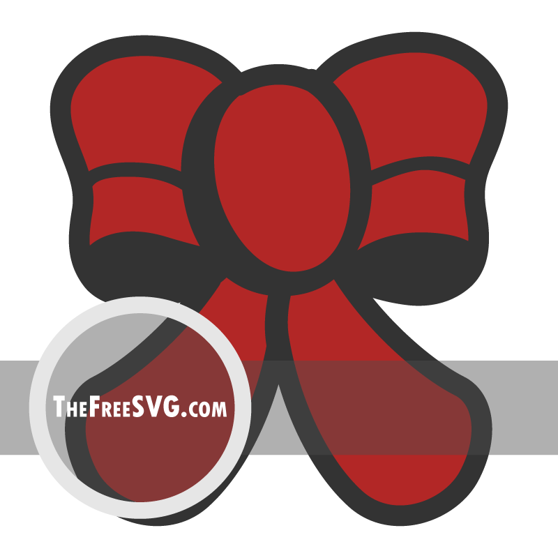 Red Bow - Free SVG File